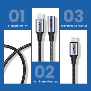 Image 5 - Ugreen MFi ברקים כדי 3.5mm אוזניות מתאם עבור iPhone 12 11 פרו 8 7 Aux 3.5mm שקע כבל עבור ברק מתאם אביזרים