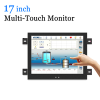 17 inch Multi Touchscreen USB Monitor Industrial Capacitive Touch Screen LCD Monitor with VGA HDMI BNC AV Output
