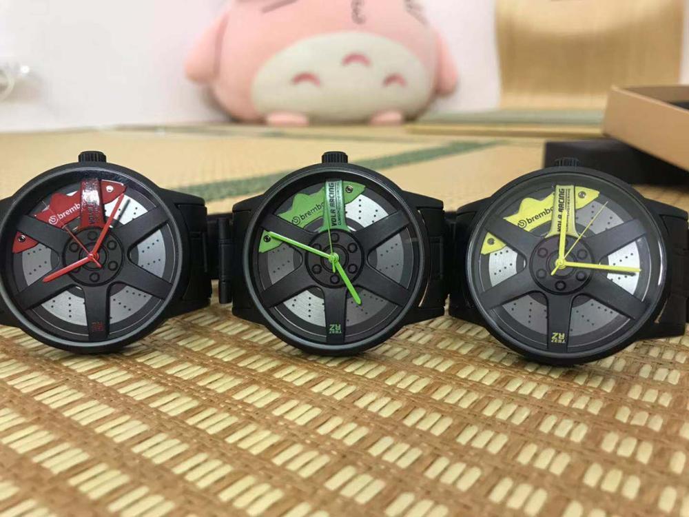 Новые мужские кварцевые часы дизайн колеса настоящий циферблат Te37 суппорт часы модификация автомобиля энтузиасты должны настоящий