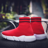 Running Shoes for Men Mesh Breathable Sport Shoes Big Size 11 Running Shoes for Men 2019 Massage Breathable Red Socks Shoes