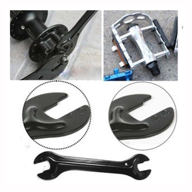 NEW Mountain Bike Cycle Head Open End Axle Hub Cone Wrench Spanner Bicycle Repair Tool Rear Axle Pedal Wrench Tools Wholesale