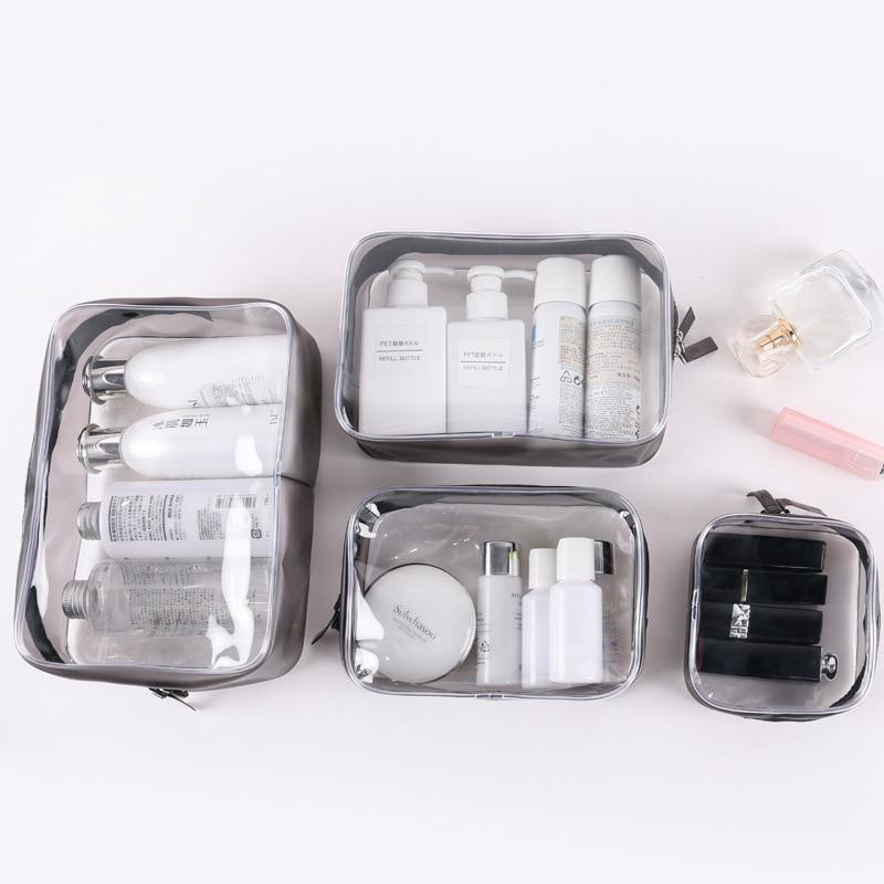 Creative Transparent Makeup Bag Portable Travel Cosmetic Zipper Waterproof Storage Organizer Wash Women Beauty Make Up Case