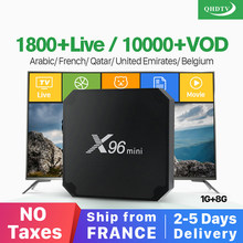 X96 mini Android 7.1 France IP TV Box Quad Core QHDTV Europe Set Top Box X96mini 1 Year IPTV Belgium Dutch French Arabic IPTV(China)
