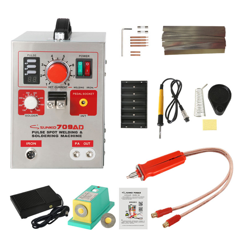 SUNKKO 709AD 220V Battery Spot Welder with HB-70B Welder pen for 18650 Spot Welding Machine image