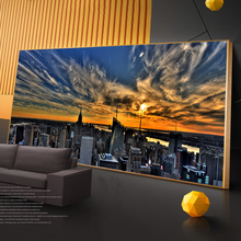 Sunset View Of New York City Canvas Paintings on the Wall Art Posters And Prints Skyline of Pictures Cuadros