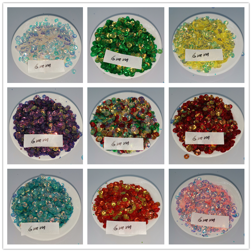 10g Round Cup Sequin 4mm 5mm 6mm 8mm 10mm Handcraft Sequins Paillette Sequins Sewing Clothes DIY  Accessoriess Sequin Fabric