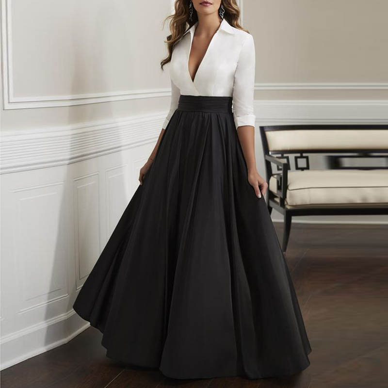 Black Satin Maxi Skirt For Women High Waist A Line Floor Length Formal Long Skirts For Office Lady Plus Size Vintage Skirt Saia