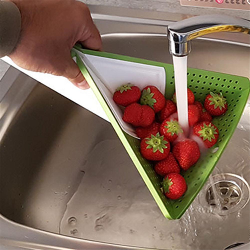 3 In 1 Folding Chopping Blocks Washing Basket Multi Functional Cutting Board Kitchen Tools For Vegetable Fruit Green And White|Chopping Blocks|   - title=