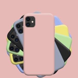 Image 3 - Offizielle Flüssigkeit Silikon Telefon Fall für iphone 12 11 Pro Max Mini X XS MAX XR 7 8 6S plus SE 2020 Volle Schutzhülle Original Abdeckung