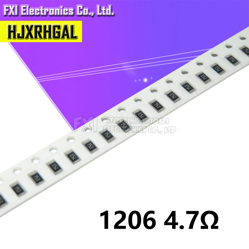 100PCS 1206-4.7R 1206 SMD Resistor  4.7 Ohm Chip Resistor 0.25W 1/4W 4.7R 4R7 New Original