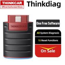 Thinkcar thinkdiag bluetooth obd2 scanner adaptador carro obdii ferramenta de diagnóstico scann automotivo diagnóstico leitor de código falha