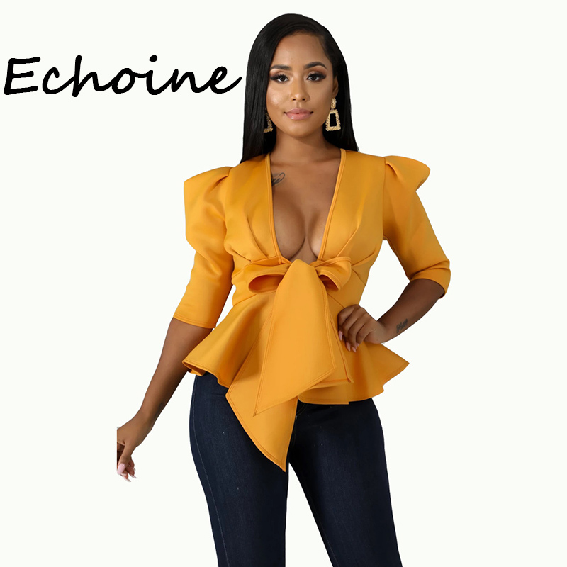 Fashion Blazer Women Cardigan Open Up Ruffle V-neck Coat Jacket Women Solid Color Autumn Women Clothes 2019 Plus Size 2XL