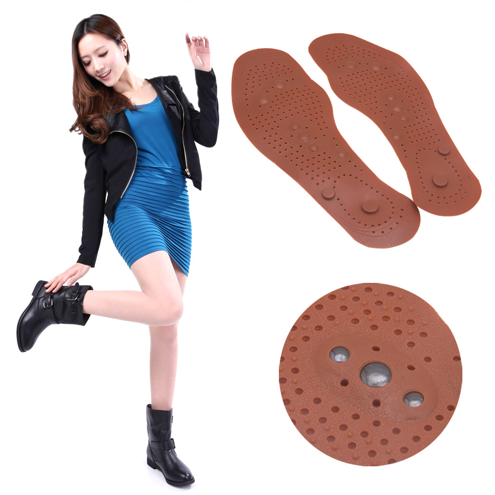 Clean Foot Feet Health Care Magnetic Therapy Massage Insole Shoe Thenar Pad