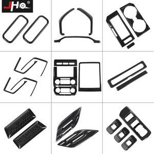 Image 3 - JHO Whole set Pickup Accessories ABS Carbon Fiber Grain Interior Decor Bezel Cover Trim Kit For Ford F150 Raptor 2017 2018 2019
