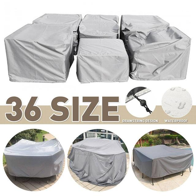 88 Size Furniture Covers Waterproof Outdoor Patio Garden Rain Snow Chair covers for Sofa Table Chair Dust Proof Cover with bag 1