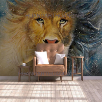 Original high quality large murals animal lovers lion decorative wall painting of the new sample of the artwork is the lobby of