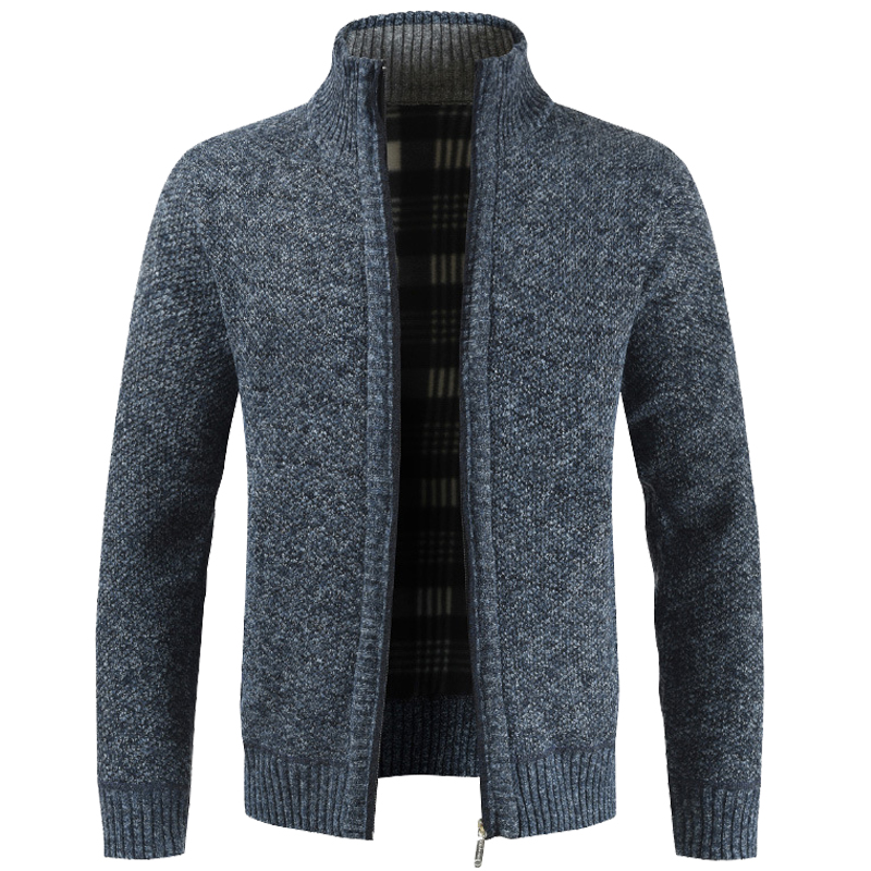 New Men's Winter Thick Business Casual Sweater Coats Cardigan Men Slim Fit Knitwear Outwear Warm Autumn Sweater Jumper Men M-3XL