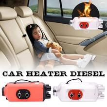 Car Metal Heater 5KW 12V/24V 4 Holes Air Diesels Heater Parking Heater Remote Control LCD Monitor For RV Trailer Trucks Boats