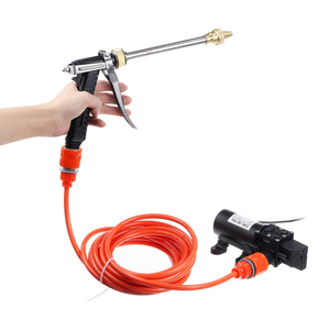 Image 3 - Protable 12V 100W 200PSI High Pressure Water Pump Sprayer With 6M Length Tube Car Charger Cord