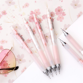 Cute Pink Cherry Blossoms Mechanical Pencils Kawaii Sakuara 0.5mm Automatic School Stationery Press Pens for Kids Gifts - discount item  14% OFF Pens, Pencils & Writing Supplies