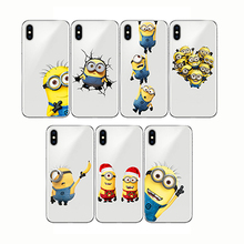 Soft Silicone Phone Case Cute Funny Yellow Minion Despicable Me Cartoon Cover for Apple iPhone 5 5S SE X 8 7 6 6S Plus XS MAX XR снегокат snow moto minion despicable me yellow 37018