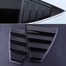 DWCX 2 шт. пластик черный Задняя четверть боковое окно жалюзи вентиляционная крышка панель отделка Подходит для hyundai Elantra