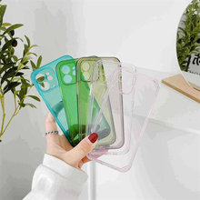 Shockproof Clear Phone Case For iPhone 12 11Pro XR X XS Max 8 7 6 6S Plus SE 2020 Frame Transparent Soft Cover