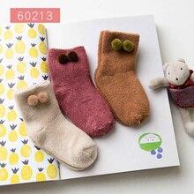 Baby Sock Animal Terry Girl Winter Kids Cartoon 2pairs Kawaii Boy Short Thick Caramella