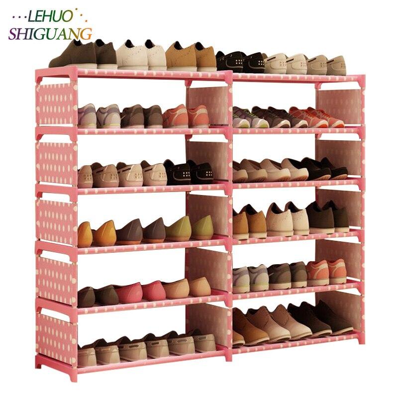 5 слоев 10 сетчатый стеллаж для обуви из нетканого материала в сборе обувной шкаф для дома, гостиной, мебели, органайзер для обуви, шкаф для хранения-in Обувные шкафы from Мебель on AliExpress