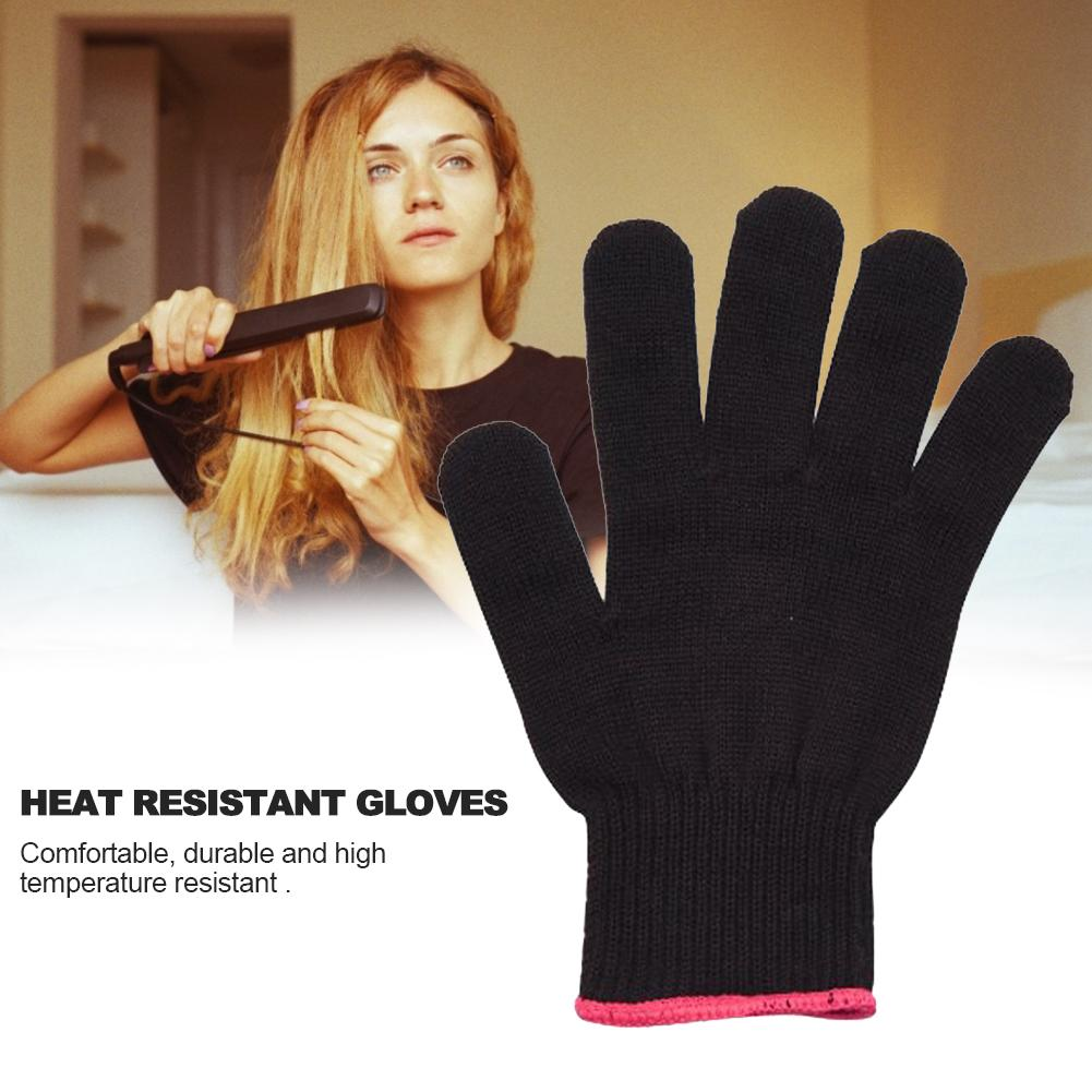 Thermal Gloves Cotton Non-slip Comfortable Heat Resistant Gloves For Hair Curlers Full Finger Gloves Buttons