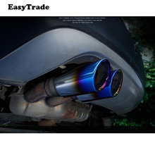 купить Car Exhaust Muffler Tip Pipe Auto Accessories For Volkswagen vw GOLF 2014 2015 2016 2017 2PCS дешево