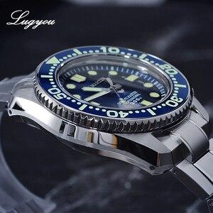 Image 3 - Lugyou San Martin ชายนาฬิกาอัตโนมัติ NH35 สแตนเลสสตีลหมุน BEZEL SLN C3 300M ทน