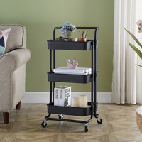 Kitchen stuff trolley living room removable storage rack multifunctional trolley rack organize shelves