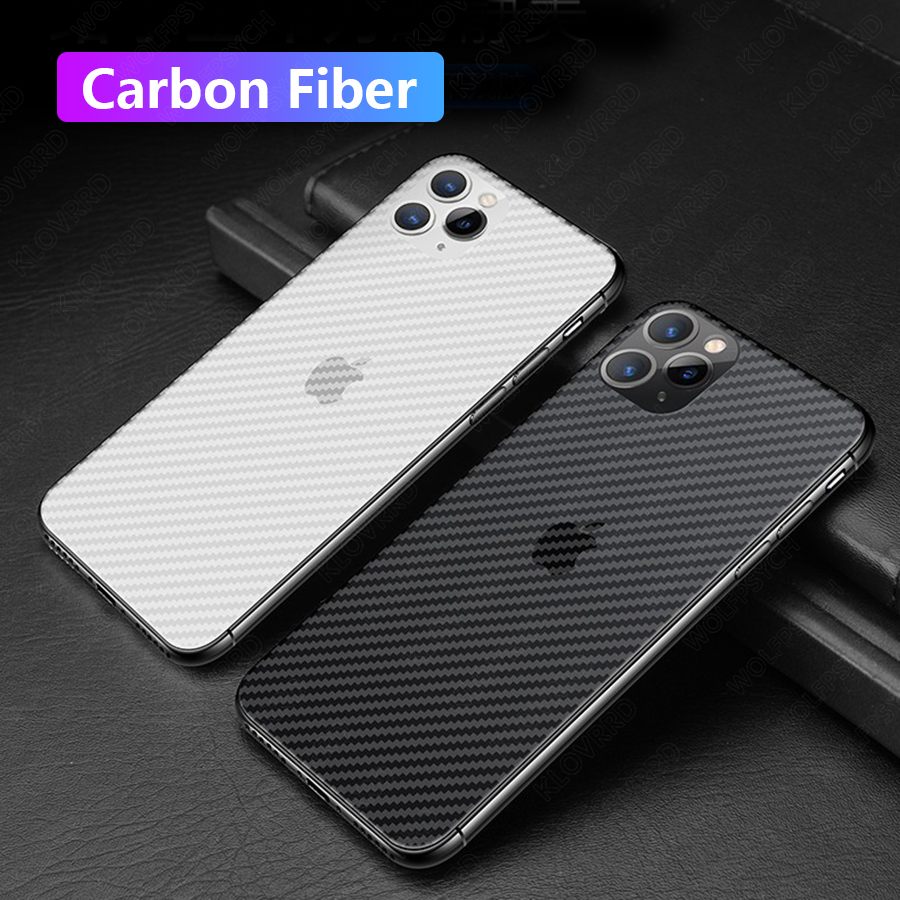 Back Sticker Carbon Fiber Film Screen Protector For IPhone 11 Pro Max 6 6S 7 8 Plus X XS Max XR Iphone11 Protective Full Cover
