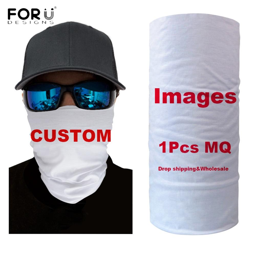 Forudesigns Custom Your Logo/Image/Name/Text Print Women Men Bandana Windproof Neck Warmer Headband Scarves Adults Outdoor Scarf