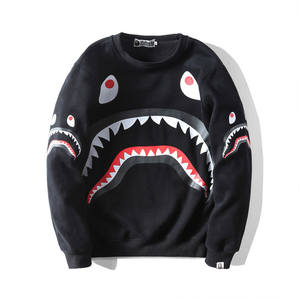 Hoodies Jacket BAPE Designer Mens Fashion Women Shark-Printing High-Quality Casual Cartoon
