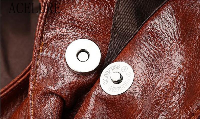ACELURE  High Capcaity Soft PU Leather Vintage Women Hand Bag Totes Designers Luxury Women Shoulder Bags Female Top-handle Bags 5