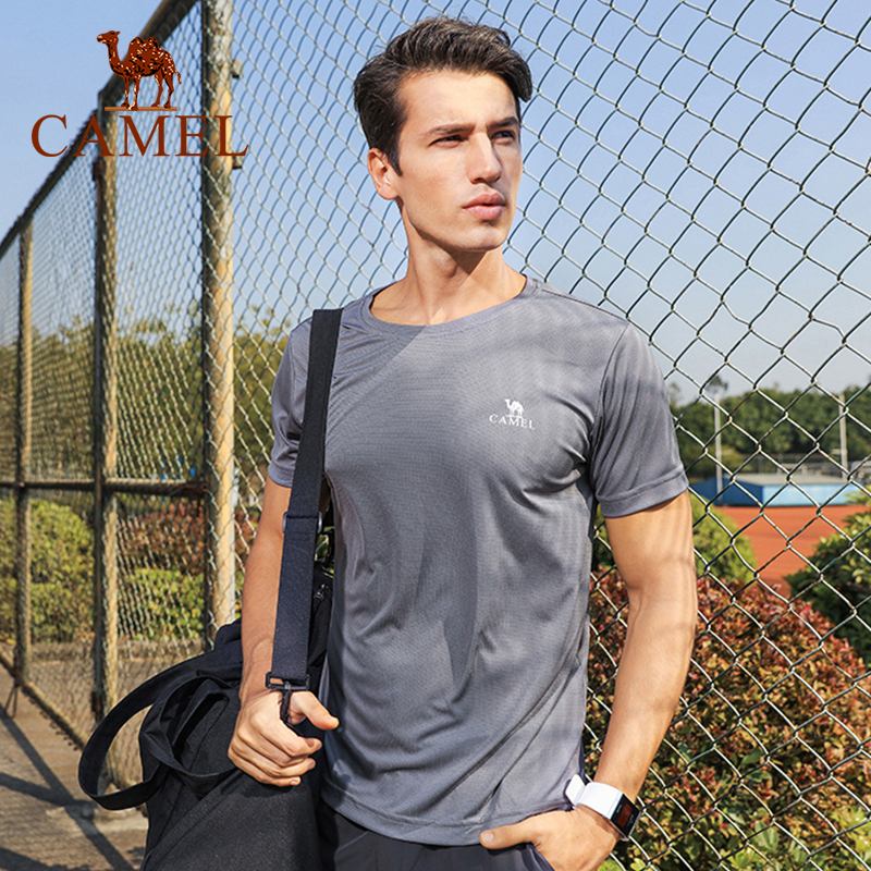 CAMEL Men Women Outdoor T-Shirt Casual Outdoor Sport Fast-Dry Breathable Tops Training T-shirt