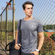 Camel Mannen Vrouwen Outdoor T-shirt Casual Outdoor Sport Sneldrogende Ademend Tops Training T-shirt(China)
