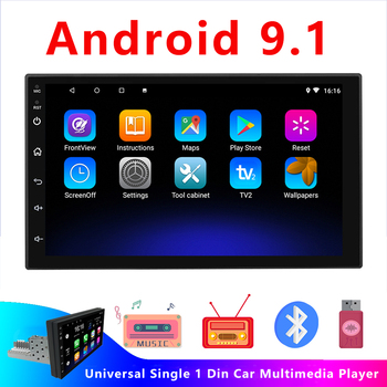 JOYINCAR Android 9.1 1Din Car Multimedia Video Player Universal Stereo Autoradio Single Din Car radio WIFI 7inch Touch Screen image