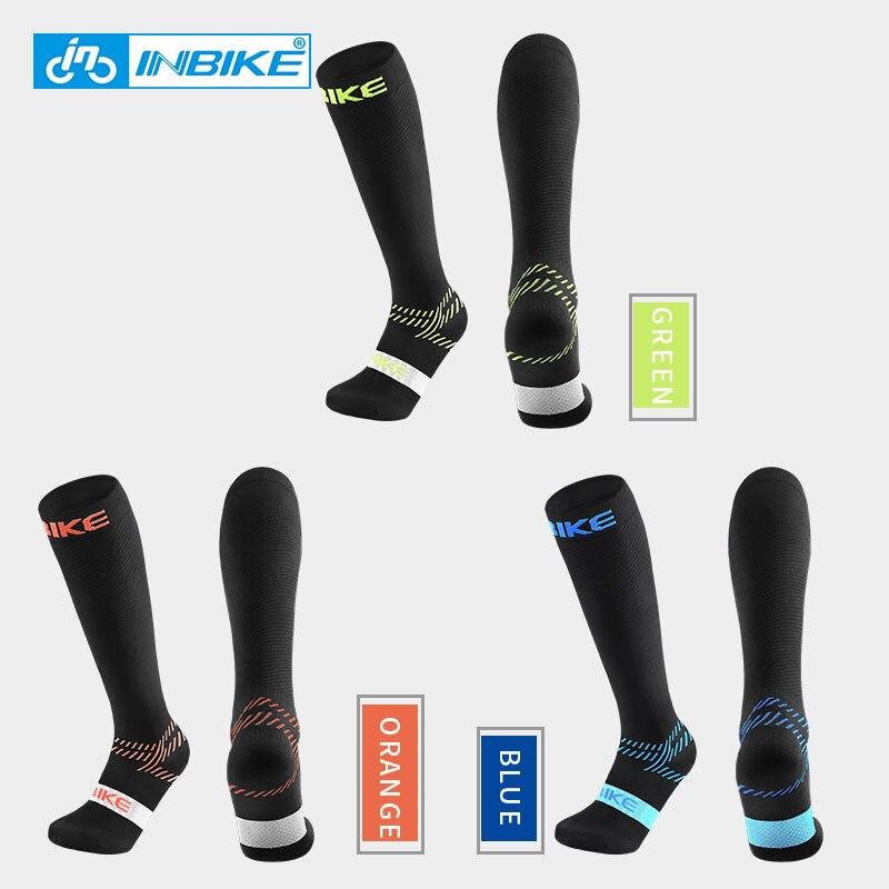 INBIKE Sports Compression Socks Pro Cycling Running Hiking Outdoor Socks Sweat-wicking Breathable Shock-absorption Men Women