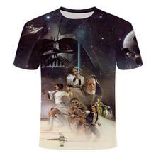 Johnson Mens Wear Star Wars Robot Short Sleeve 3d Printing Male t shirt summer top mens tee streetwear tshirt Creative Design