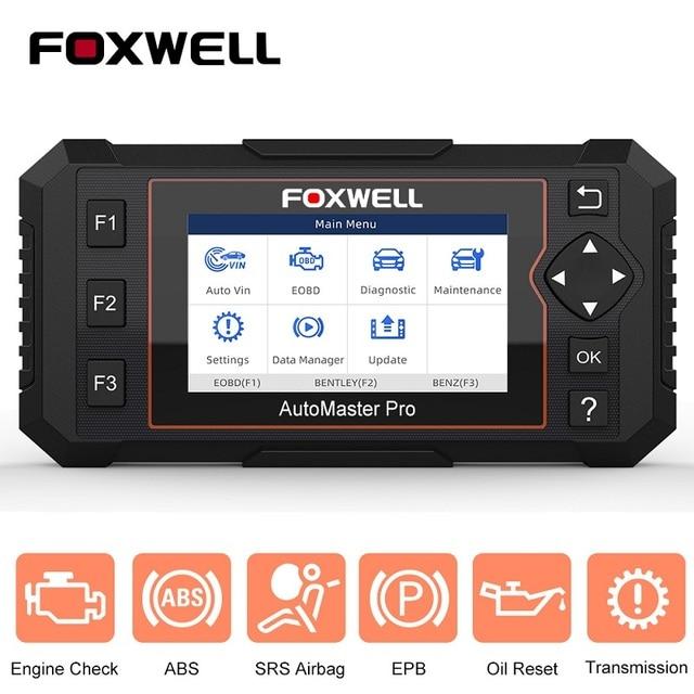 FOXWELL NT614 Elite OBD OBD2 Scanner Four System EPB Oil Service Reset OBDII Automotive Scanner Professional Car Diagnostic Tool