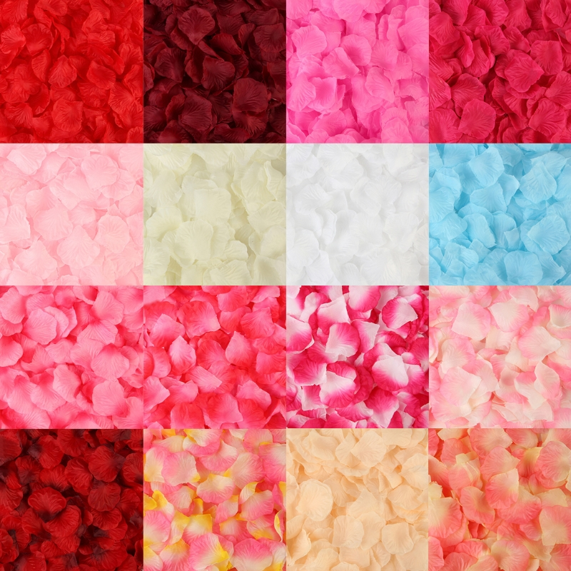 2000 Pcs Artificial Rose Petals Wedding Petalas Colorful Silk Flower Accessories