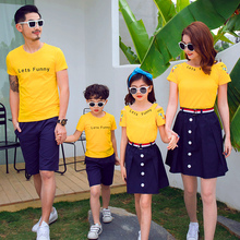 mom mother and daughter clothes dresses summer couple mum matching family outfits big sister little brother father son