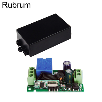 Rubrum 433 MHz Wireless AC 110V 220V 1 CH Remote Control Switch RF Relay Receiver Module For Light Lamp Garage Door Opener Diy new ac 220v 1 ch channels manual on off wireless remote control switch lamp light switch