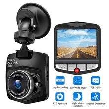 Cámara DVR Dash para coche HD 1080P grabadora de conducción vídeo visión nocturna Grabación en bucle movimiento de gran angular detección Dashcam registrador