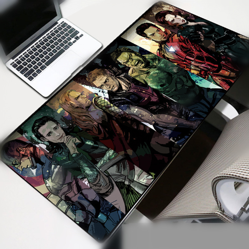 70x30cm Large Mouse Pad Gamer Waterproof  Iron man Desk Mat Computer Mousepad Keyboard Table Cover birthday  Gift
