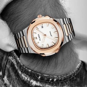 PLADEN Luxury Men's Quartz Watches Geneva Fashion Watches Designer Patek Nautilus Watch 30M Waterproof Quality Casual Men Watch