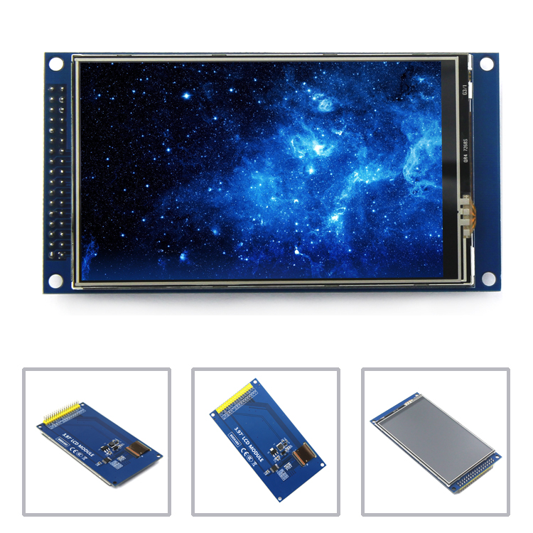 EQV New 4 Inch TFT LCD Screen Touch Screen Module IPS Full View Ultra HD 800X480 With Base Plate